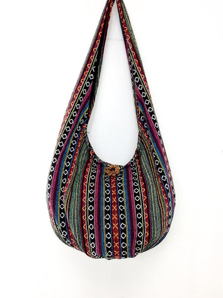 Woven Bag Cotton Bag Tribal bag Hobo Boho bag Shoulder Bag Short straps (WF4), VeradaShop, HaremPantsThai