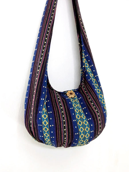 Woven Cotton Bag Hippie bag Hobo Boho bag Shoulder bag Sling bag Gypsy bag Tote Crossbody bag Women bag Handbags Long Strap (WF17)