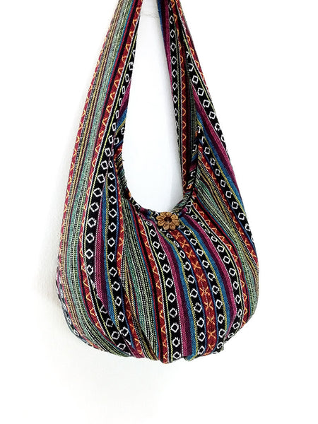 Woven Bag Handbags Tote Thai Cotton Bag Tribal bag Hippie bag Hobo bag Boho bag Shoulder bag Women bag Everyday bag Short Strap (WF4)