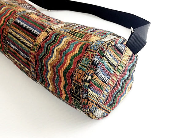 Thai Handmade Woven Yoga Mat Bag Sports Bags Pilates Mat Bag (WF49), VeradaShop, HaremPantsThai