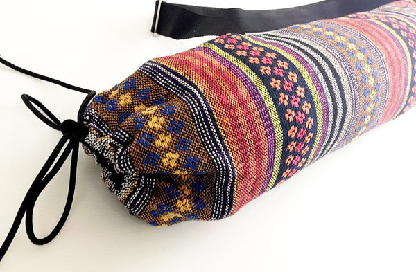 Thai Handmade Woven Yoga Mat Bag Sports Bags Pilates Mat Bag (WF46), VeradaShop, HaremPantsThai