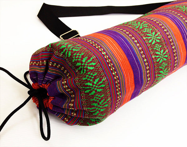 Thai Handmade Woven Yoga Mat Bag Sports Bags Pilates Mat Bag (FF10), VeradaShop, HaremPantsThai