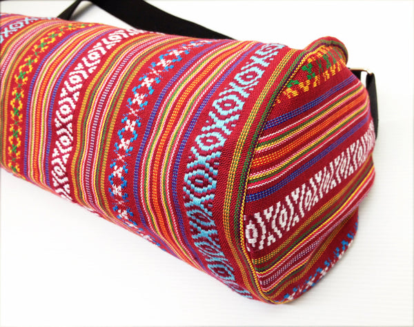 Thai Handmade Woven Yoga Mat Bag Sports Bags Pilates Mat Bag (FF7), VeradaShop, HaremPantsThai