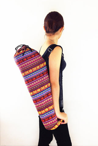 Handmade Yoga Mat Bag Yoga Bag Sports Bags Tote Yoga Sling bag Pilates Bag Pilates Mat Bag Woven Cotton bag (FF4)