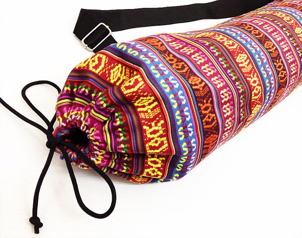 Thai Handmade Woven Yoga Mat Bag Sports Bags Pilates Mat Bag (FF4), VeradaShop, HaremPantsThai