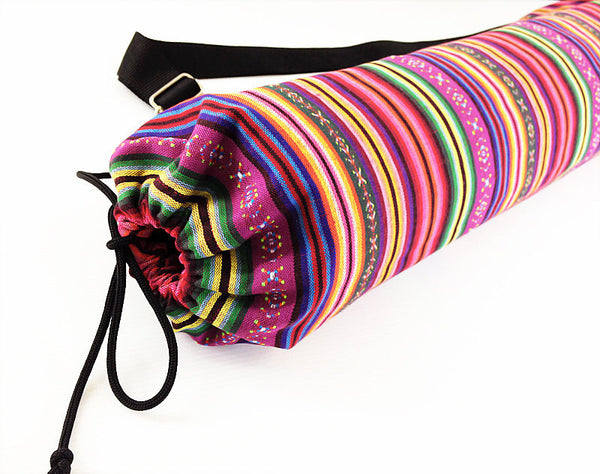 Thai Handmade Woven Yoga Mat Bag Sports Bags Pilates Mat Bag (FF9), VeradaShop, HaremPantsThai