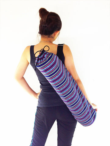 Handmade Yoga Mat Bag Yoga Bag Sports Bags Tote Yoga Sling bag Pilates Bag Pilates Mat Bag Woven Cotton bag (FF8)