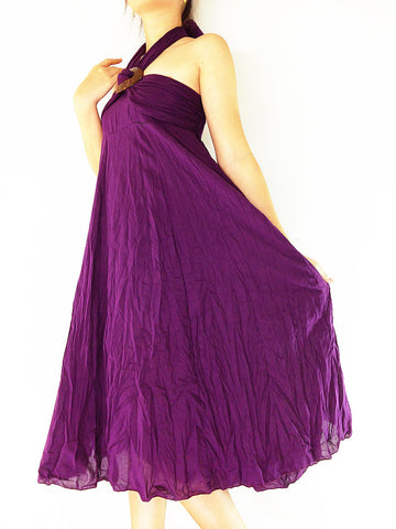 Thai Women Clothing Natural Cotton Convertible Dresses Skirts Luxury Amethyst (DSS19)