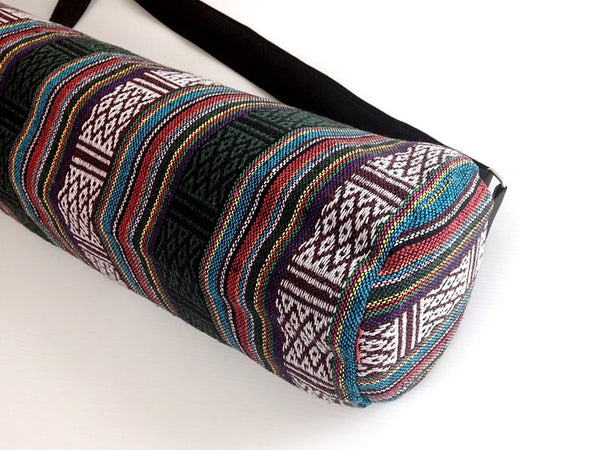 Thai Handmade Woven Yoga Mat Bag Sports Bags Pilates Mat Bag (WF15), VeradaShop, HaremPantsThai