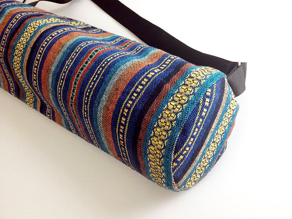 Thai Handmade Woven Yoga Mat Bag Sports Bags Pilates Mat Bag (WF57), VeradaShop, HaremPantsThai