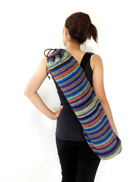 Handmade Yoga Mat Bag Yoga Bag Sports Bags Tote Yoga Sling bag Pilates Bag Pilates Mat Bag Woven Cotton bag (WF57)