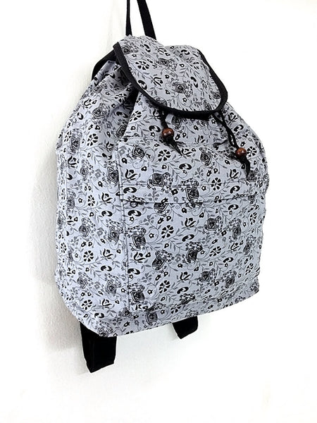 Elephant Cotton Bag Hippie bag Hobo bag Boho bag Backpack Tote bag Travel Bag School bag Light Gray, VeradaShop, HaremPantsThai
