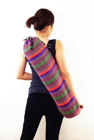 Handmade Yoga Mat Bag Yoga Bag Sports Bags Tote Yoga Sling bag Pilates Bag Pilates Mat Bag Woven Cotton bag (FF10)