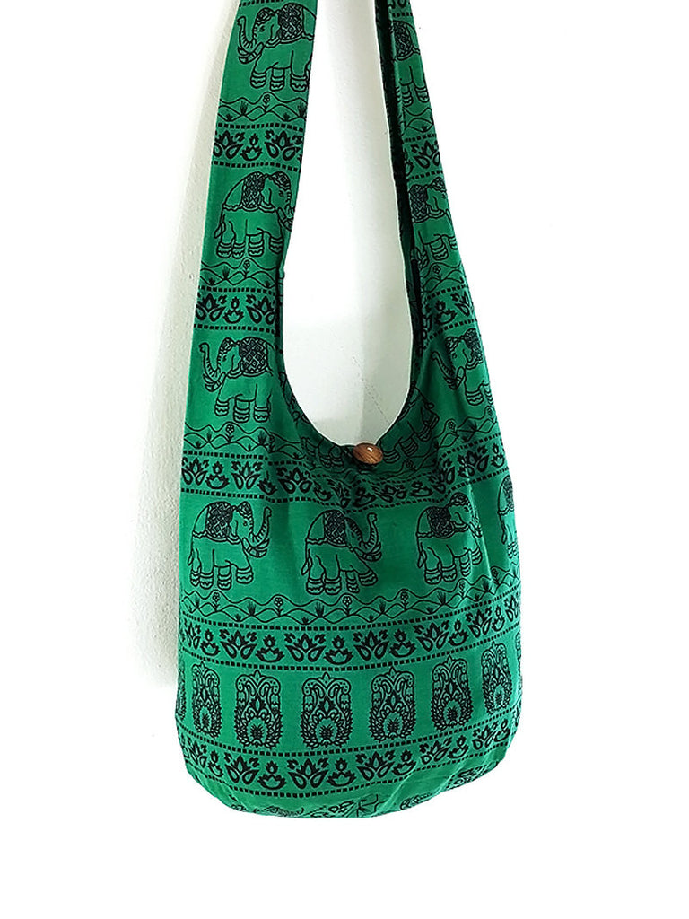 Women bag Handbags Cotton bag Elephant bag Hippie Hobo bag Boho bag Shoulder bag Sling bag bag Tote bag Crossbody Purse Green