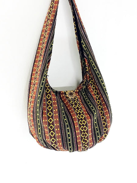 Woven Bag Handbags Tote Thai Cotton Bag Tribal bag Hippie bag Hobo bag Boho bag Shoulder bag Women bag Everyday bag Short Strap (WF44)
