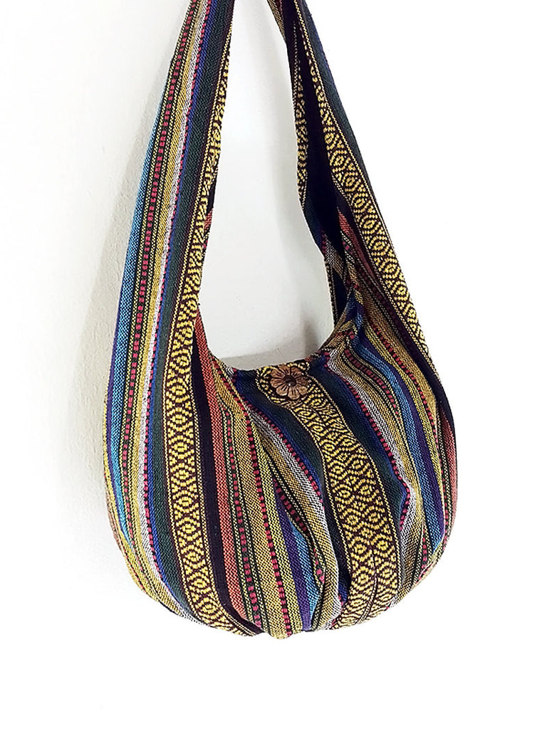 Woven Bag Handbags Tote Thai Cotton Bag Tribal bag Hippie bag Hobo bag Boho bag Shoulder bag Women bag Everyday bag Short Strap (WF40)