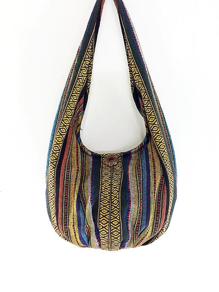 Woven Bag Cotton Bag Tribal bag Hobo Boho bag Shoulder Bag Short straps (WF40), VeradaShop, HaremPantsThai