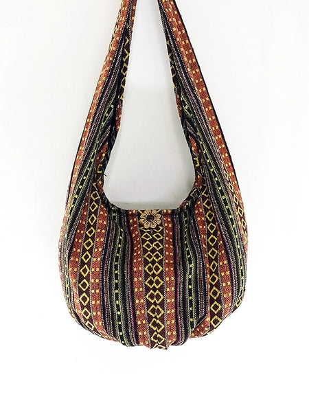 Woven Bag Cotton Bag Tribal bag Hobo Boho bag Shoulder Bag Short straps (WF44), VeradaShop, HaremPantsThai