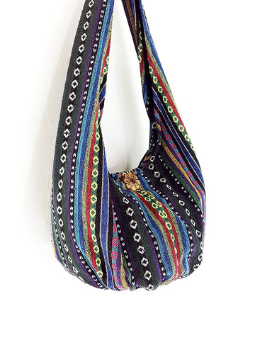 Woven Bag Handbags Tote Thai Cotton Bag Tribal bag Hippie bag Hobo bag Boho bag Shoulder bag Women bag Everyday bag Short Strap