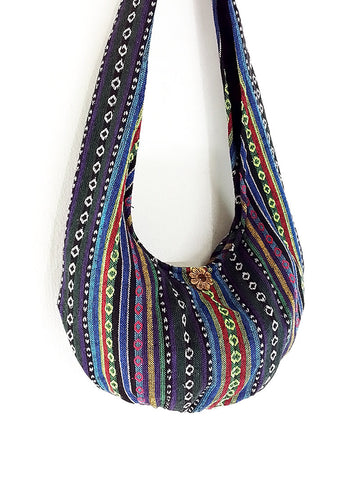 Woven Cotton Bag Hippie bag Hobo Boho bag Shoulder bag Sling bag bag Tote Crossbody bag Gypsy Women bag Handbags Long Strap