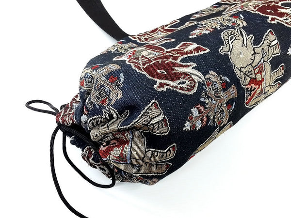 Thai Handmade Woven Yoga Mat Bag Sports Bags Pilates Mat Bag Elephant (WF59), VeradaShop, HaremPantsThai