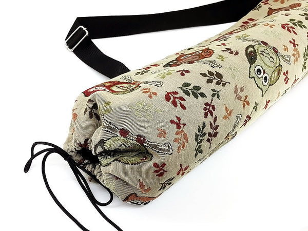 Thai Handmade Woven Yoga Mat Bag Sports Bags Pilates Mat Bag Owl bag (WF60), VeradaShop, HaremPantsThai