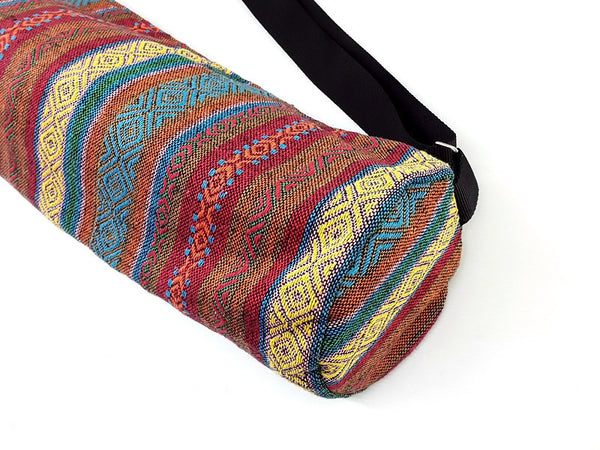 Thai Handmade Woven Yoga Mat Bag Sports Bags Pilates Mat Bag (WF64), VeradaShop, HaremPantsThai
