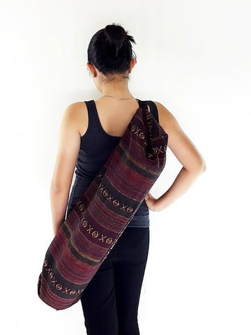 Handmade Yoga Mat Bag Yoga Bag Sports Bags Sling bag Pilates Bag Pilates Mat Bag Woven Bag Women bag Woven Cotton bag Unisex bag (L-WF58)