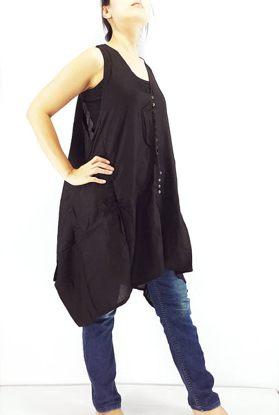 PRB12 Women Rayon Blouses Wraps Cloaks Tanks Tops Colorful Black, Pants, NaughtyGirl, HaremPantsThai