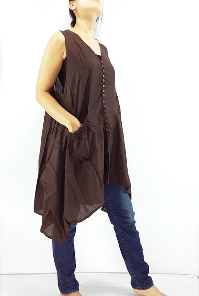 PRB11 Women Rayon Blouses Wraps Cloaks Tanks Tops Colorful Brown, Pants, NaughtyGirl, HaremPantsThai