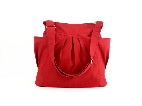 Canvas Handbags Shoulder bag Hobo bag Tote bag Red Jolie, VeradaShop, HaremPantsThai