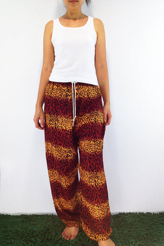 FT7 Thai Women Clothing Comfy Rayon Bohemian Trousers Hippie Baggy Genie Boho Pants Tiger, Pants, NaughtyGirl, HaremPantsThai
