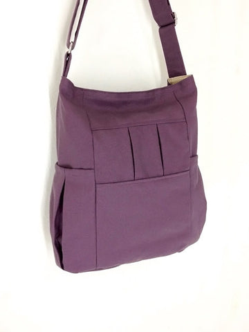 Canvas Bag Shoulder bag Hobo bag Tote bag Light Purple Mary, VeradaShop, HaremPantsThai