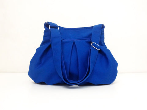 Canvas Bag Shoulder bag Hobo bag Tote bag Dark Blue Cheryl, VeradaShop, HaremPantsThai