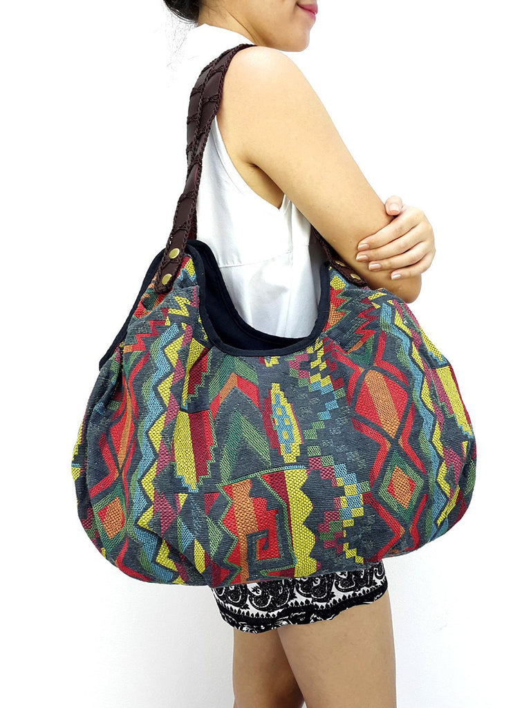 Woman bag Woven Bag Purse Tote bag Cotton Bag Hippie bag Hobo bag Boho bag Shoulder bag Market bag Shopping bag Handbags Grey