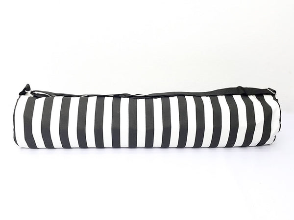 Thai Handmade Woven Yoga Mat Bag Sports Bags Pilates Mat Bag Striped Black & White (L), VeradaShop, HaremPantsThai