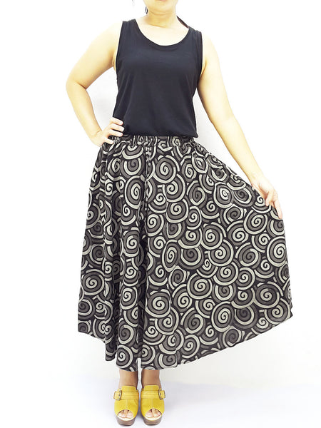 PCSK1 Women Cotton Skirt Maxi Skirt Gypsy Skirt Cotton Skirt Boho Skirt Hippie Skirt Summer Beach Skirt Comfy Skirt Unique Midi Skirt Black, Pants, NaughtyGirl, HaremPantsThai