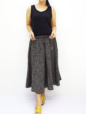 PCSK3 Women Cotton Skirt Maxi Skirt Gypsy Skirt Cotton Skirt Boho Skirt Hippie Skirt Summer Beach Skirt Comfy Skirt Unique Midi Skirt Black, Pants, NaughtyGirl, HaremPantsThai