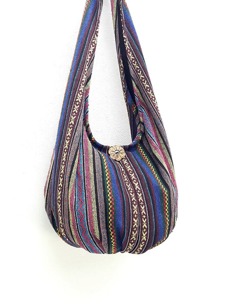 Woven Bag Handbags Tote Thai Cotton Bag Tribal bag Hippie bag Hobo bag Boho bag Shoulder bag Women bag Everyday bag Short Strap (WF97)