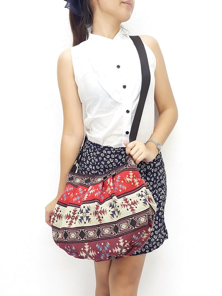 Woven bag Hobo Boho bag Shoulder Bag Sling bag Crossbody (WF73), VeradaShop, HaremPantsThai