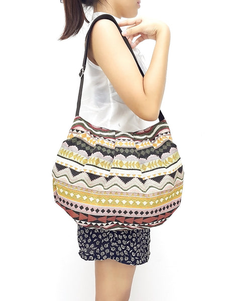Woven bag Hobo Boho bag Shoulder Bag Sling bag Crossbody (WF62), VeradaShop, HaremPantsThai