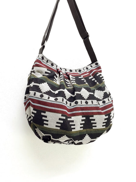 Woven bag Hobo Boho bag Shoulder Bag Sling bag Crossbody (WF29), VeradaShop, HaremPantsThai