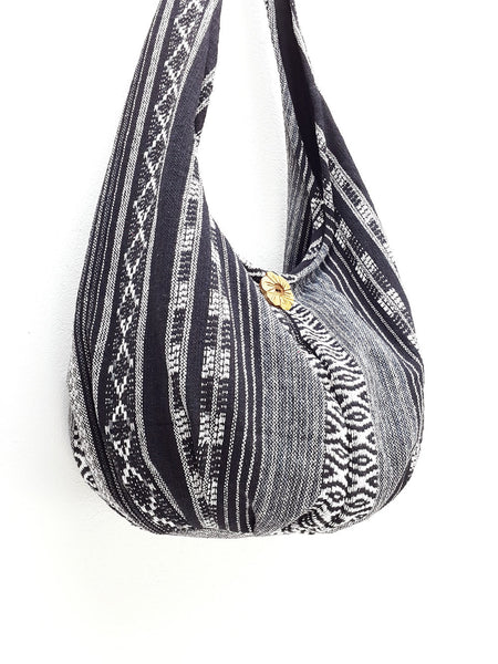 Woven Bag Handbags Tote Thai Cotton Bag Tribal bag Hippie bag Hobo bag Boho bag Shoulder bag Women bag Everyday bag Short Strap (WF48)