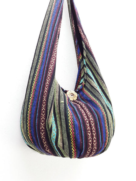 Woven Bag Handbags Tote Thai Cotton Bag Tribal bag Hippie bag Hobo bag Boho bag Shoulder bag Women bag Everyday bag Short Strap (WF3)