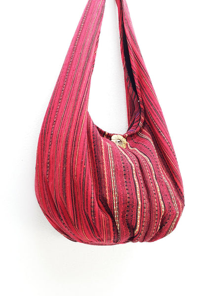 Woven Bag Cotton Bag Tribal bag Hobo Boho bag Shoulder Bag Gypsy bag Short straps (WF2), VeradaShop, HaremPantsThai