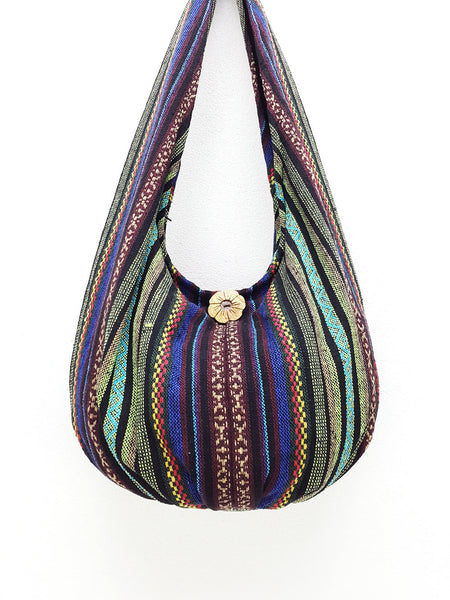 Woven Bag Cotton Bag Tribal bag Hobo Boho bag Shoulder Bag Short straps (WF3), VeradaShop, HaremPantsThai