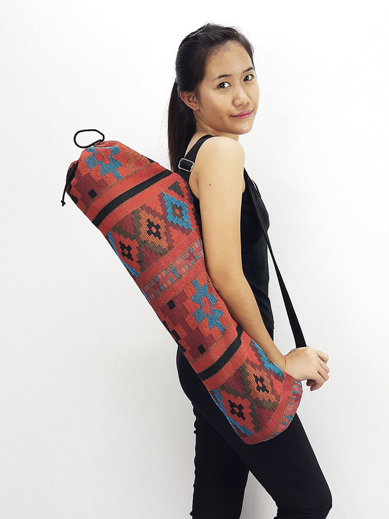 Handmade Yoga Mat Bag Yoga Bag Sports Bags Tote Yoga Sling bag Pilates Bag Pilates Mat Bag Woven Cotton bag (WF25)