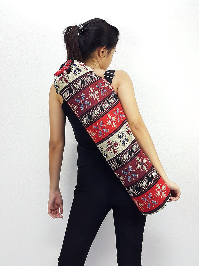 Handmade Yoga Mat Bag Yoga Bag Sports Bags Tote Yoga Sling bag Pilates Bag Pilates Mat Bag Woven Cotton bag (WF73)