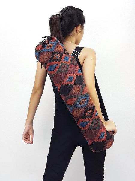 Handmade Yoga Mat Bag Yoga Bag Sports Bags Tote Yoga Sling bag Pilates Bag Pilates Mat Bag Woven Cotton bag (WF72)