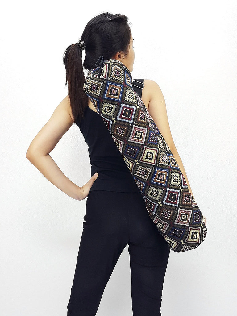 Handmade Yoga Mat Bag Yoga Bag Sports Bags Tote Yoga Sling bag Pilates Bag Pilates Mat Bag Woven Cotton bag (WF76)